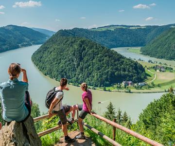 Ausblick Schloegener Donauschlinge Donausteig © WGD Donau Oberösterreich Tourismus GmbHHochhauser