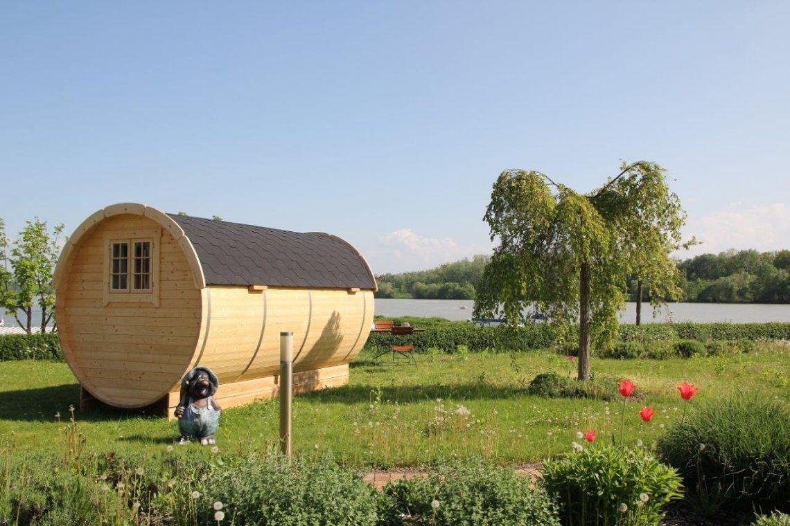 Donau(T)Raum+Au Schlaf Fassl+mit+Donaublick@Camping&Pension+Au+an+der+Donau.JPG